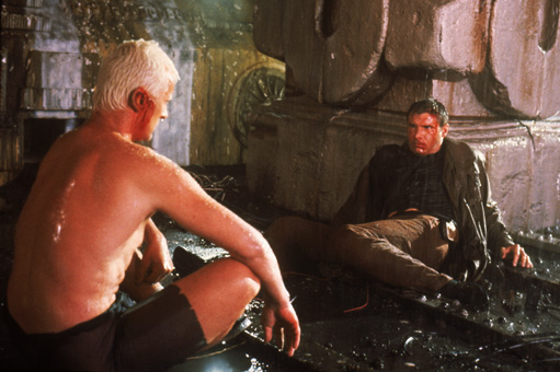 Harrison Ford and Rutger Hauer in Blade Runner (1982)